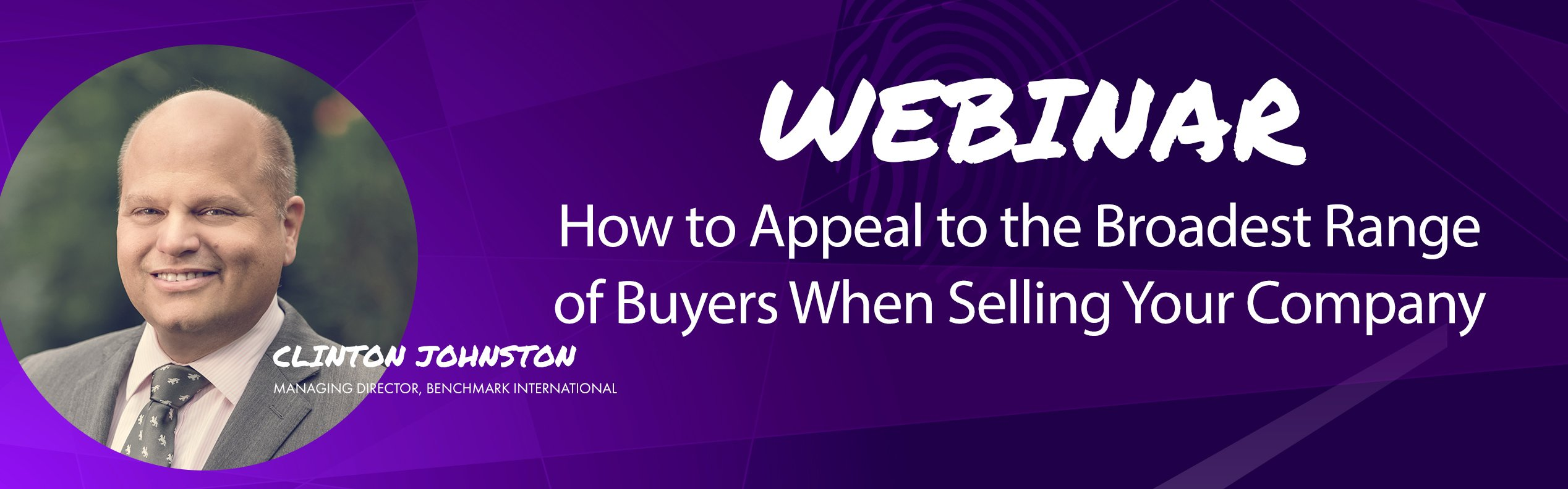 Range of Buyers when Selling Your Company Webinar